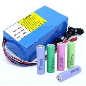Bateria litium 18650 48V 12AH 48V 500W Bateria elektrike biçikletë me BMS