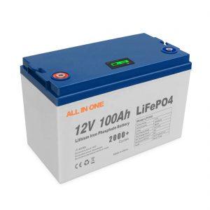 T ALL GJITHA N ONE NJ ONE Shitje e Energjisë Elektrike Bateritë Lithiume Diellore Ruajtja e Programit BMS Kontrolli Bateri e Rimbushur e Thellë 12V 100Ah LiFePO4