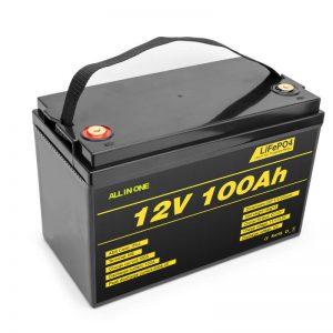 Paketë baterie LiFePO4 bateri me cikël të thellë litium qelizë 12v 100ah