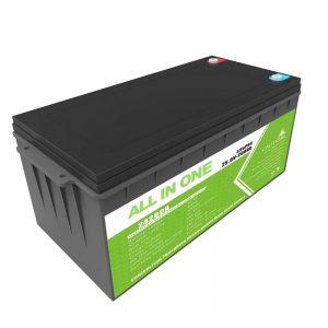 Bateri rezervë e ringarkueshme me jetë të gjatë 12.8v 200ah LiFePO4 bateri për karrocë golfi
