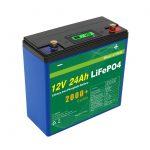 Cikël diellor i thellë 24v 48v 24ah Lifepo4 Bateri Paketa UPS 12v 24ah Bateri