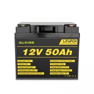Paketimi i baterive Lifepo4 me cikël të thellë të ngarkueshëm 12V 50Ah për sistemin e energjisë elektrike