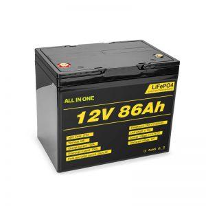 Lifepo4 12v 85ah Paketimi i Baterive Jon Lithium Diellore Cikli i thellë