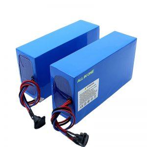 Të gjitha në një qelizë bateri elektrike e biçikletave 13S7P 18650 48v 20.3ah