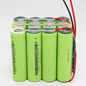 Bateri me cikël të thellë të PCB-së të papërshkueshëm nga uji 18650 litium 4s3p të personalizuar me shumicë 12v 10AH për mjet elektrik