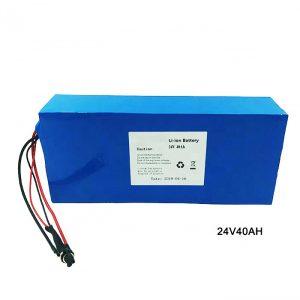 Biçikletë elektrike Bateri litiumi 24 volt 24V 40Ah NMC Li Ion Bateri Paketimi Bateri e rimbushur litium jon
