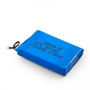 Bateria e riparueshme LiPO 502236 3.7V 380mAH / 3.7V 760mAH /7.4V 380mAH