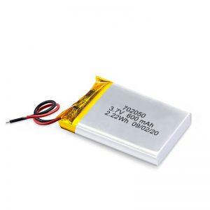 Kinë Shitje me shumicë 3.7V 600Mah 650Mah Mini Li-Polymer Bateri litiumi Bateri të Rimbushshme
