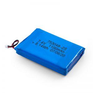 Bateria e riparueshme LiPO 753048 3.7V 1100mAh / 7.4V 1100mAH / 3.7V 2200mAH