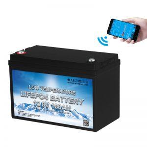 Temperatura e ulët Bateria LiFePO4 12V 100AH me temperaturë të ulët