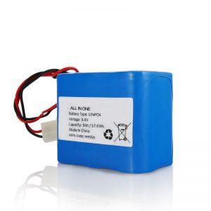 Paketa e baterisë 6.4V 12Ah LiFePO4 Litium 26650 32650 me lidhës për dritën diellore