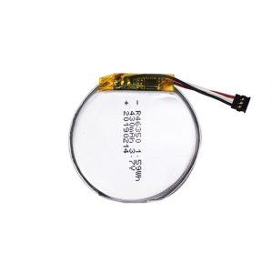 Bateria e personalizuar LiPO 46350 3.7V 350mAH bateria e zgjuar e shikimit 46350 bateri e vogël e rrumbullakët polimer litiumi për lodra